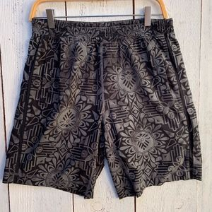 Lululemon Men's M Black Gray Shorts Running Yoga